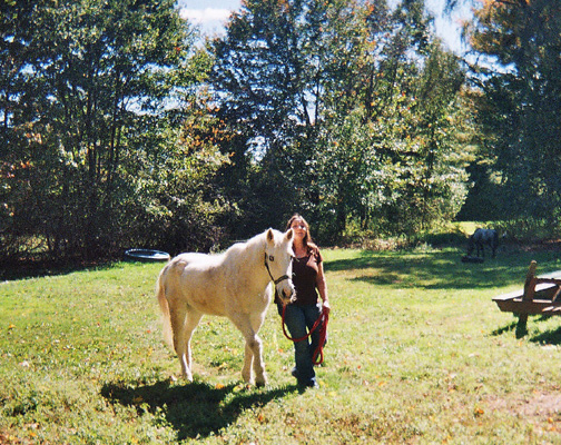 Fiona Lennox of New Hampshire pony parties and horsecare